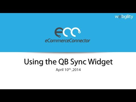 Using the QB Sync Widget for Magento and Zen Cart
