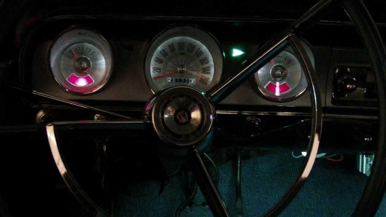 1964 FORD FAIRLANE 500 LEDs. LED instrument cluster