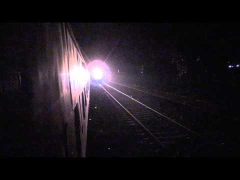 ERS DURONTO AC EXPRESS DESTROYS BLACK OUT MANGAON STATION, KONKAN RAILWAY