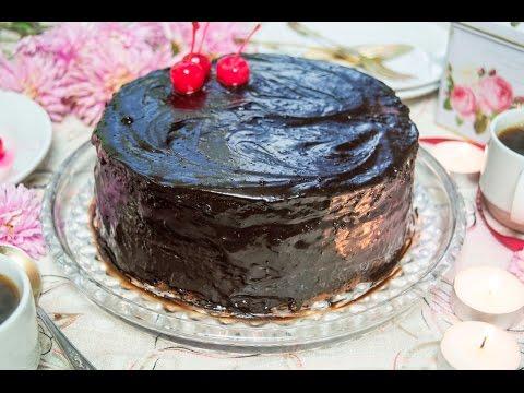 Торт пьяная вишня с творожным кремом рецепт
