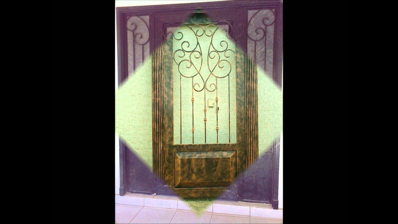 Puertas de herreria artistica mc youtube for Modelos de puertas y precios
