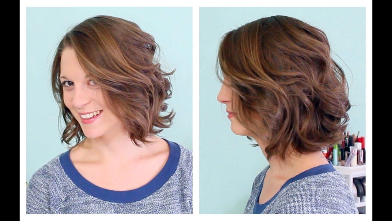 Накрученные причёски на короткие волосы