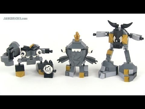 LEGO Mixels review - Series 1 Cragsters Krader. Seismo. AND Shuff!