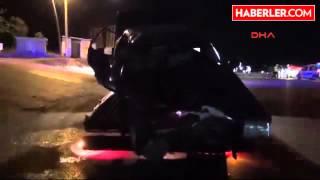 Manisa   Otomobille Kamyonet Çarpıştı  4 Yaralı