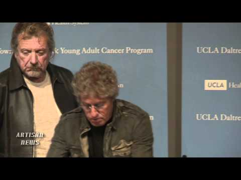 ROGER DALTREY, ROBERT PLANT HELP LAUNCH UCLA TEEN CANCER CENTER