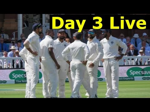 Live - India vs West Indies 1st Test : 3rd Day Live Cricket Today Score Online Ind vs WI Highlights