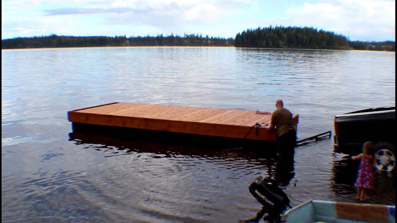 Floating Dock Launch Cluculz Lake Youtube