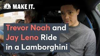 Trevor Noah And Jay Leno Ride In A Lamborghini