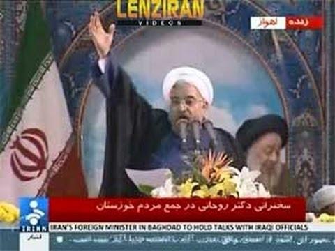 Hassan Rohani  Arabic speech in Ahwaz and Javad Zarif  trip in Lebanon and Iraq