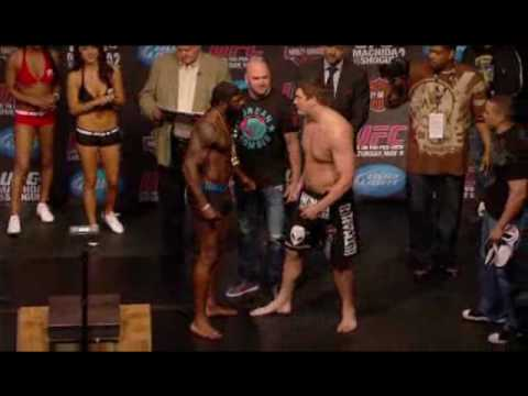 Kimbo Slice vs Matt Mitrione Weigh in UFC 113 Video
