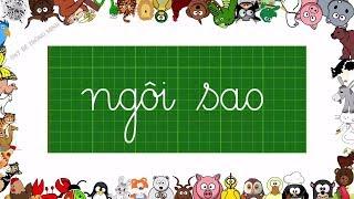 Bé học chữ | Em tập viết chữ cái tiếng việt lớp 1 | Viết chữ ngôi sao, diều sáo | Dạy bé thông minh
