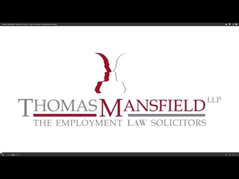 Thomas Mansfield Solicitors London - How to conduct a disciplinary hearing?