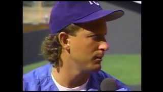 1991 Bret Saberhagen No-hitter 9th inning / interview