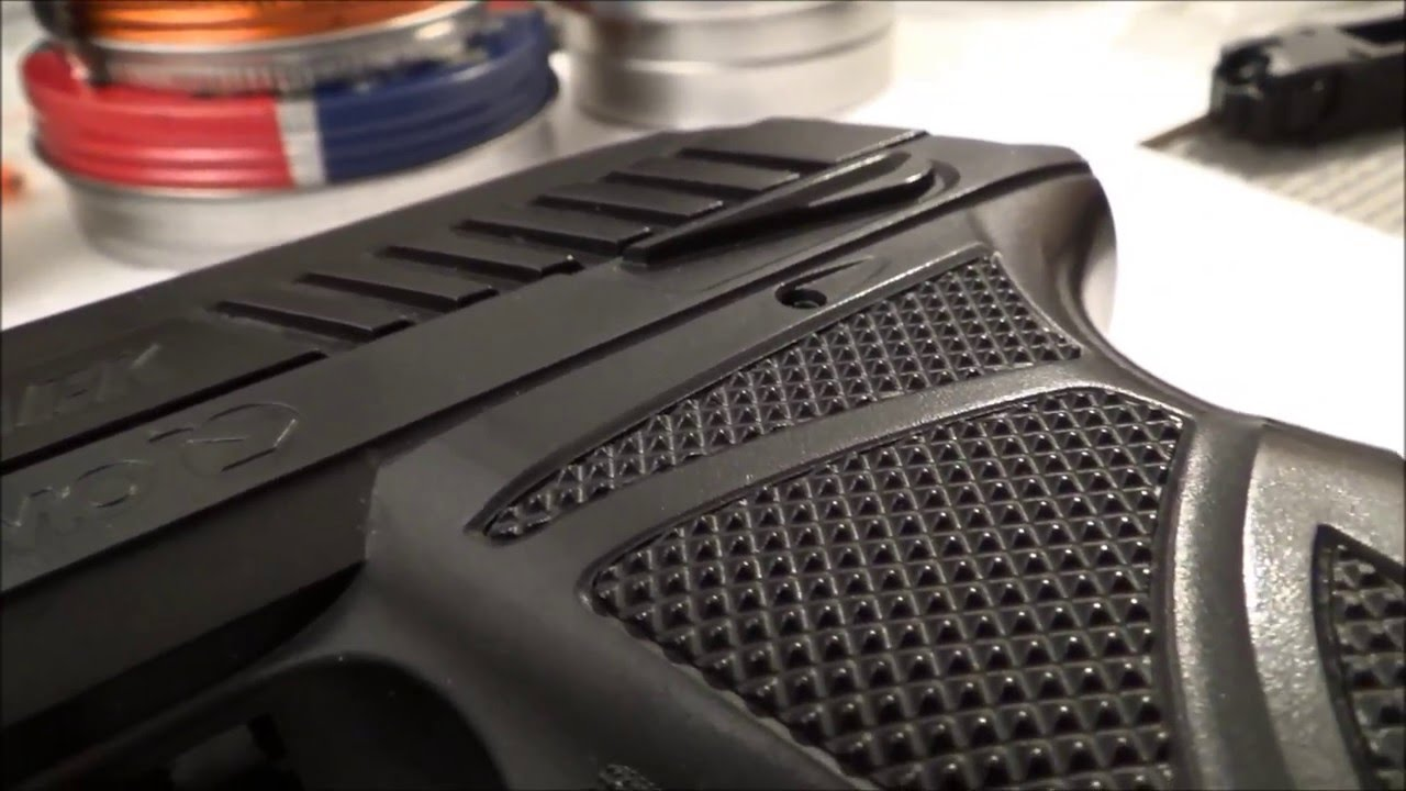 Gamo PT-85 Pistol - detailed close up