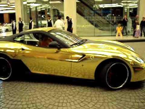 Gold Ferrari Hamann Dubai Mall Of Emirates Youtube