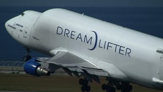 Boeing 747-4J6(LCF) Dreamlifter N718BA Take off at Nagoya