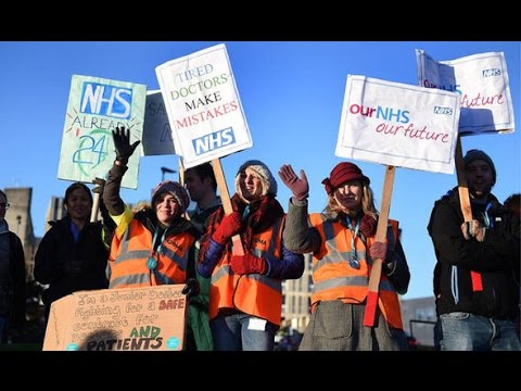 Junior doctors strike: Jeremy Corbyn joins protest march