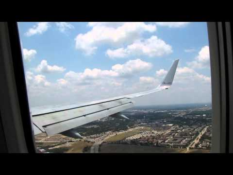 American Airlines 757 landing at Dallas Fort Worth Intl Airport
