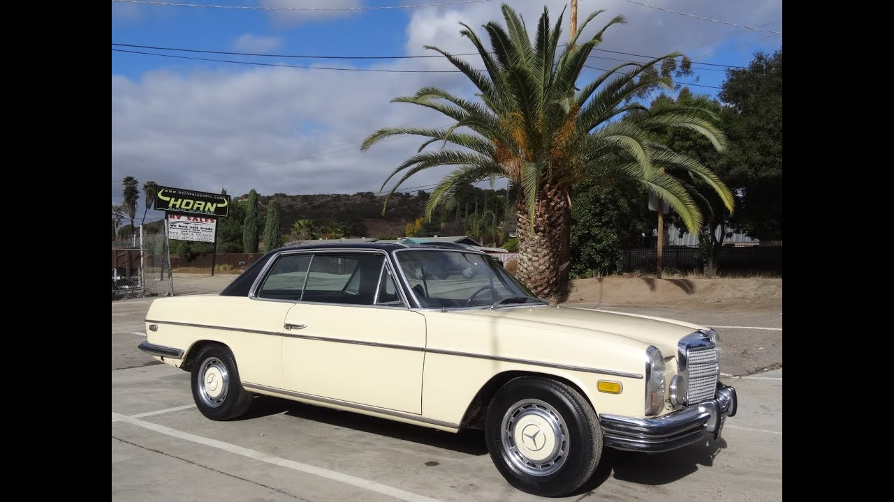 W114 mercedes benz 250c coupe exterior test drive video for Mercedes benz watch