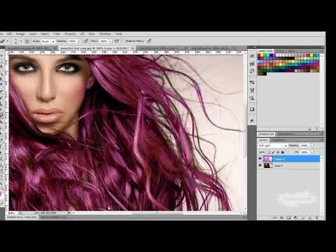 Como cambiar el color de cabello en Photoshop