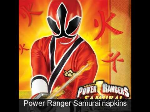 Power Rangers Samurai Birthday Supplies