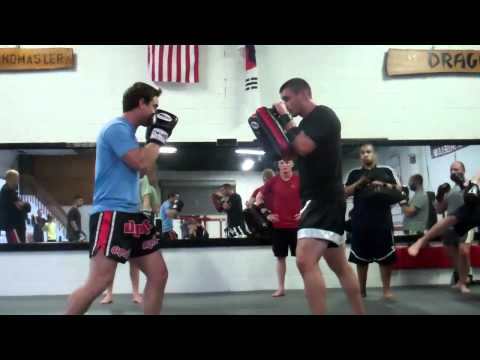 Muay Thai Sparring Drills at Dragon Gym Martial Arts Malvern, PA Image 1