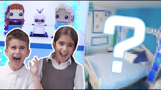 ULTIMATE LEGO Disney Frozen Room Makeover ! Family and Kids React to 2018 Room Makeover and Tour