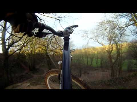 Mountain biking Ham Hill gopro 22/01/12