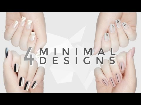 4 Cool. Easy & Minimal DIY Nail Art Designs