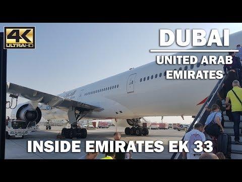 A tour of inside Emirates EK33 Plane [4K]