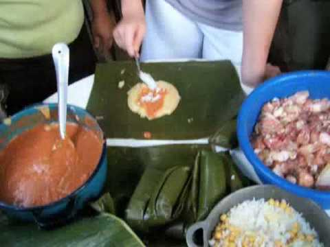 Making Tamales In La Ceiba, Honduras