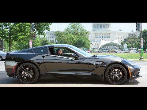 Scarlett Johansson's Corvette Hot Captain America Interview CARJAM TV 2014
