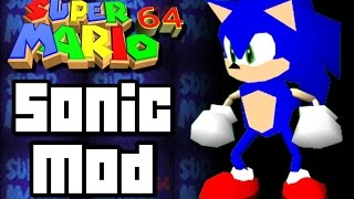 Super Mario 64 Mod SONIC THE HEDGEHOG (N64)