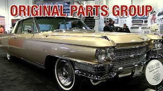 Cadillac, GTO, Monte Carlo, Chevelle Parts & MORE!  Original Parts Group Inc at SEMA -Eastwood