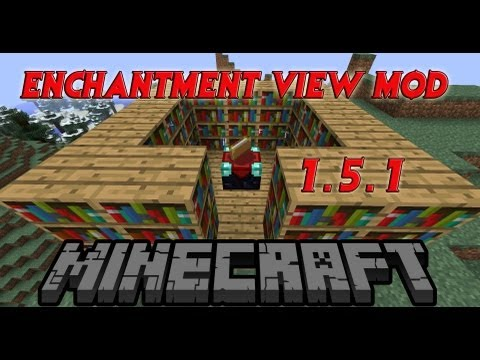 Minecraft-How to Install Enchant View Mod! See your Enchantments! 1.5.1 HD