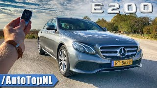 2019 Mercedes E Class E200 REVIEW POV Test Drive on AUTOBAHN & ROAD by AutoTopNL