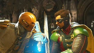 Injustice 2 - Red Hood vs Robin - All Intro Dialogue, Super Moves And Clash Quotes