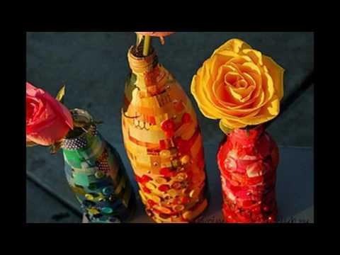 Как сделать красивую вазу для цветов