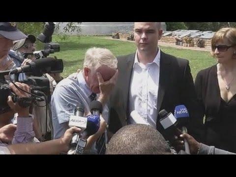 Reeva Steenkamp's uncle breaks down in tears after her funeral