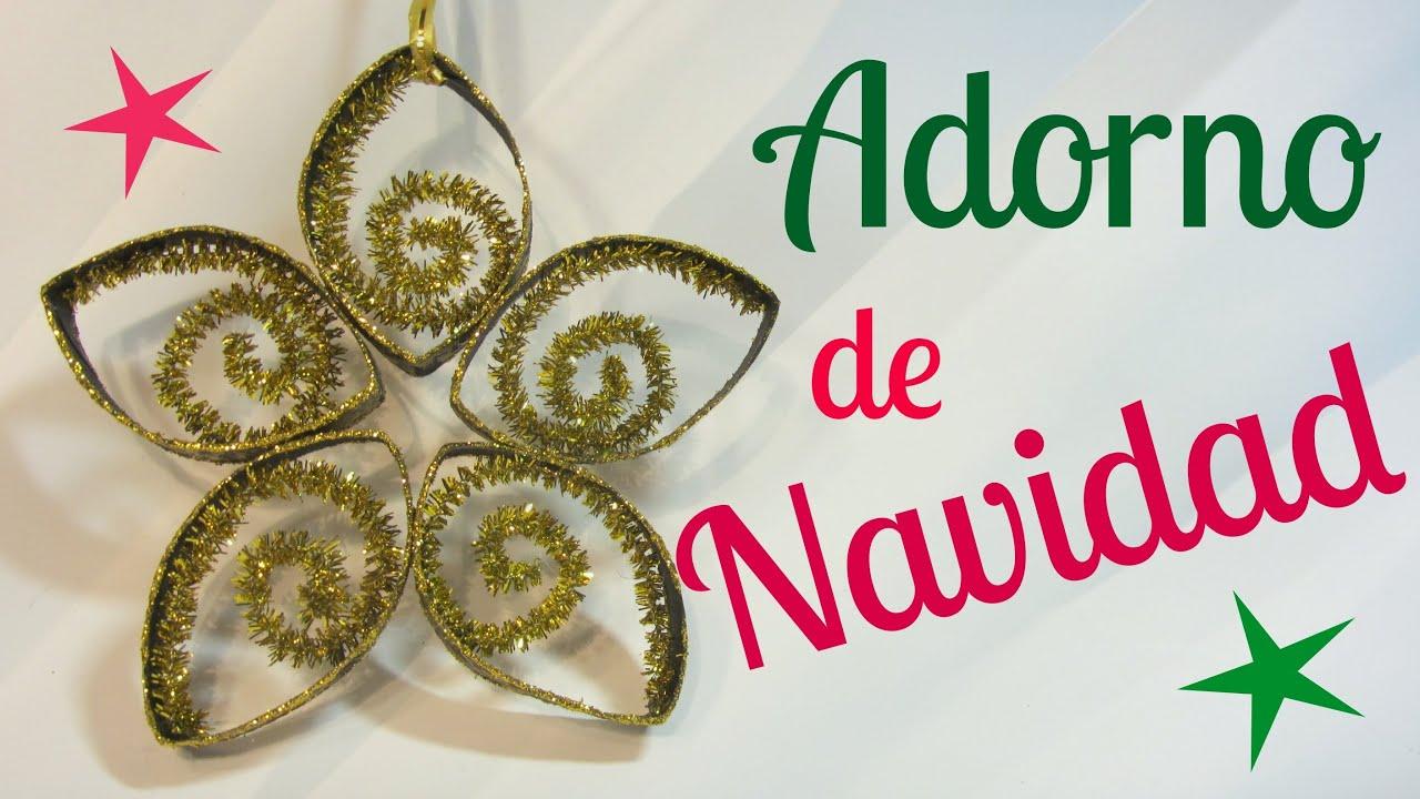 Como hacer un adorno con tubos de cart n youtube - Como hacer adorno de navidad ...