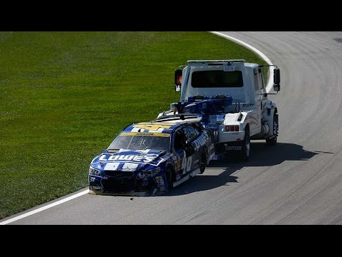 Multi Car Crash @ 2014 NASCAR Sprint Cup Kansas