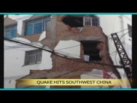 Strong 6.1 Earthquake Levels 12,000 Homes In China!  8/3/14
