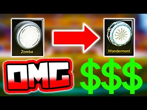 *BIG TRADE* White ZOMBAS for White WONDERMENTS!! ( Rocket League Trading )