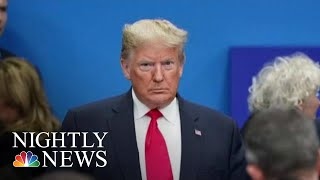 President Donald Trump Cuts NATO Trip Short After Trudeau's Hot Mic Moment | NBC Nightly News
