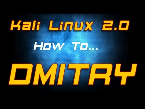 How To - Kali Linux 2.0 - Dmitry Information Gathering Tool