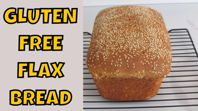 Gluten Free Flax Bread with Sesame Seeds ~ Sandwich Bread - YouTube