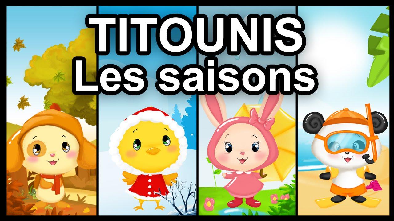 Dessin anim titounis les saisons youtube - Dessin 4 saisons ...