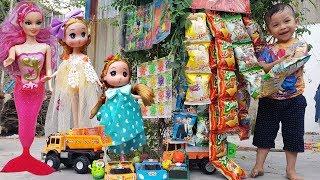 Trò Chơi Búp Bê Baby Doli Và Nàng Tiên Cá Mua Bim Bim ❤ ChiChi ToysReview TV ❤ Đồ Chơi