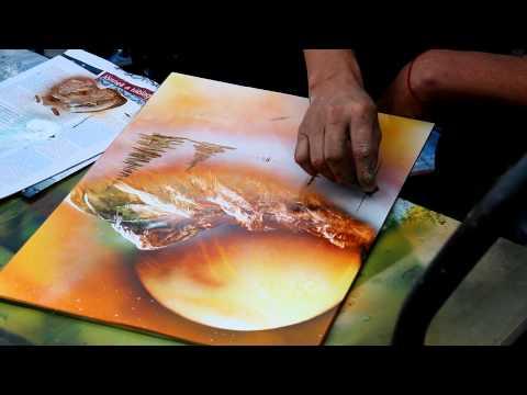 Magic Spray Paint Art - Attila Hlásznyik from Hungary