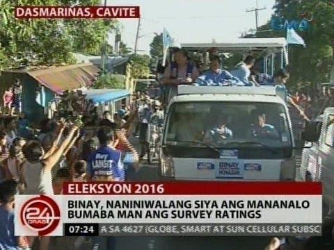 24 Oras: Binay, naniniwalang siya ang mananalo bumaba man ang survey ratings